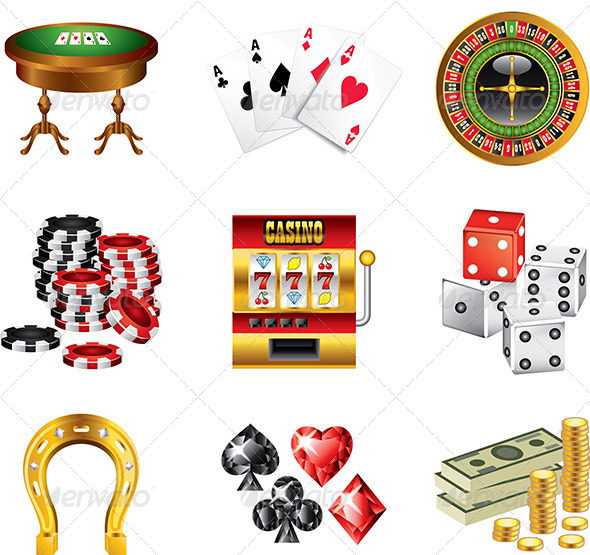 GraphicRiver Casino Icons Vector Set 5454579