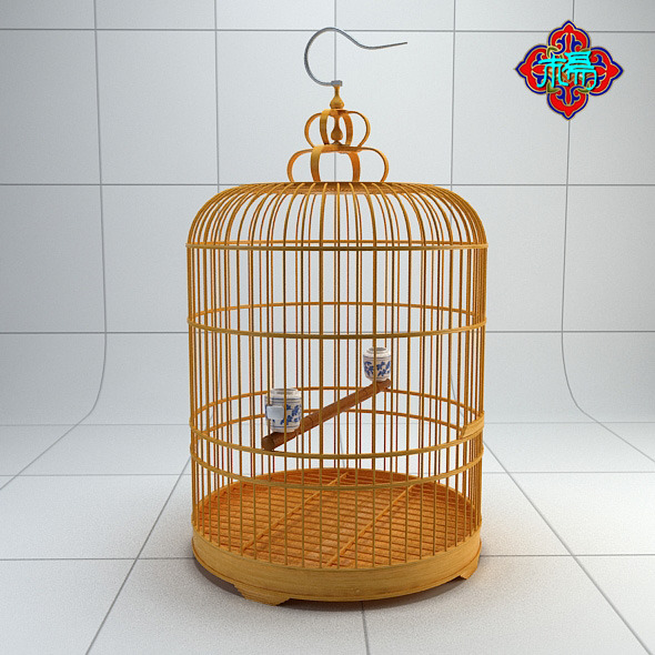 3DOcean Chinese style bird cage 4 5466965