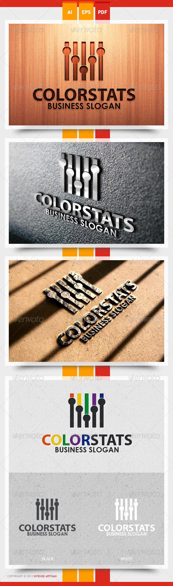 GraphicRiver Color Stats Logo Template 5466977