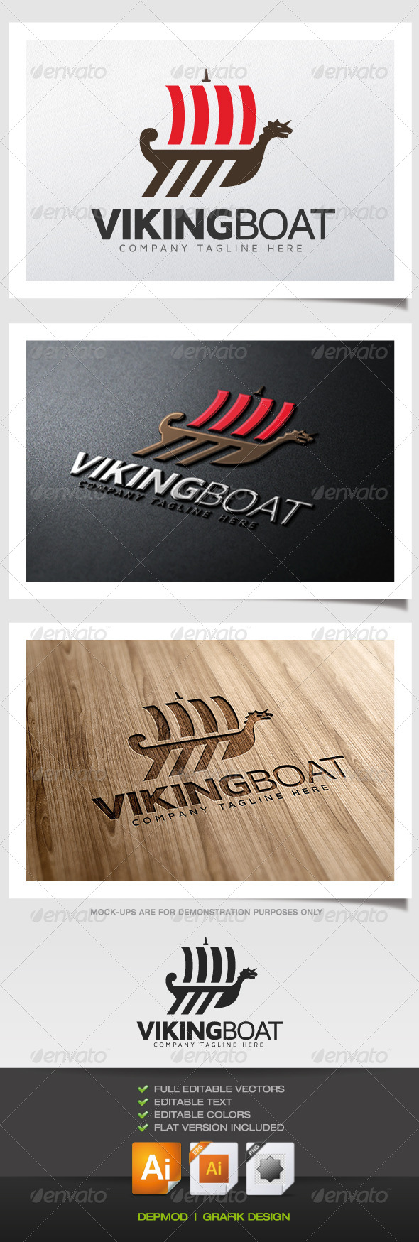 GraphicRiver Viking Boat Logo 5467543