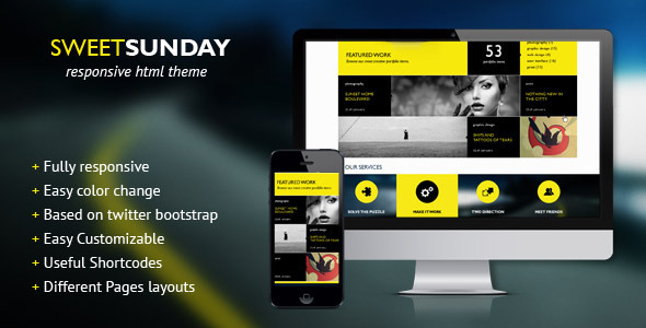 SweetSunday - Fully Responsive Creative HTML Template - Creative Site Templates