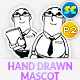 Hand Drawn Male Office & Business Mascot Part 2 - GraphicRiver Item for Sale