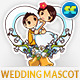 Cute Hand Drawn Wedding Mascot - GraphicRiver Item for Sale