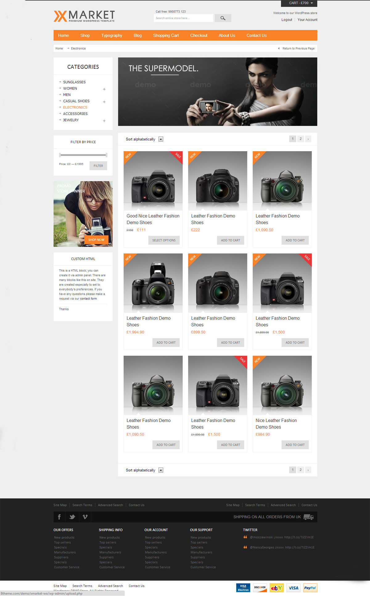 XMarket - Responsive WordPress E-Commerce Theme