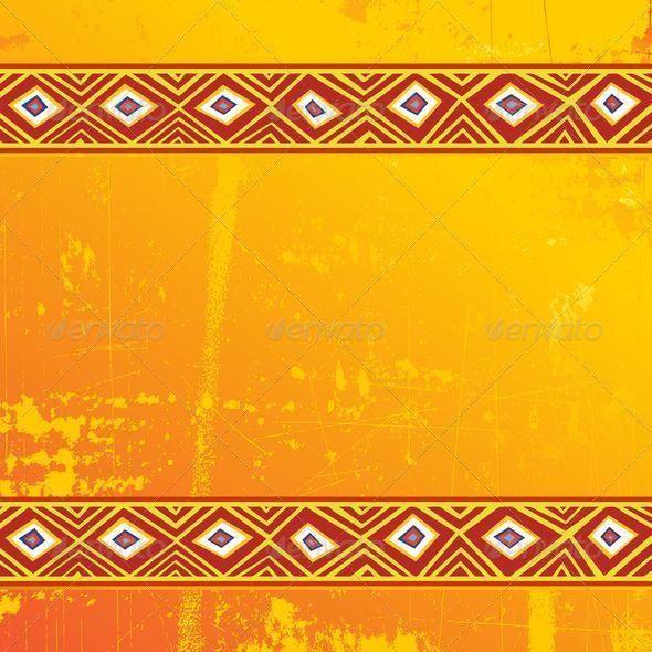 GraphicRiver Ethnic Africa Art Grunge Ornamental Pattern 5458772