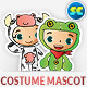 People With Cute Animal Costume Mascot - GraphicRiver Item for Sale