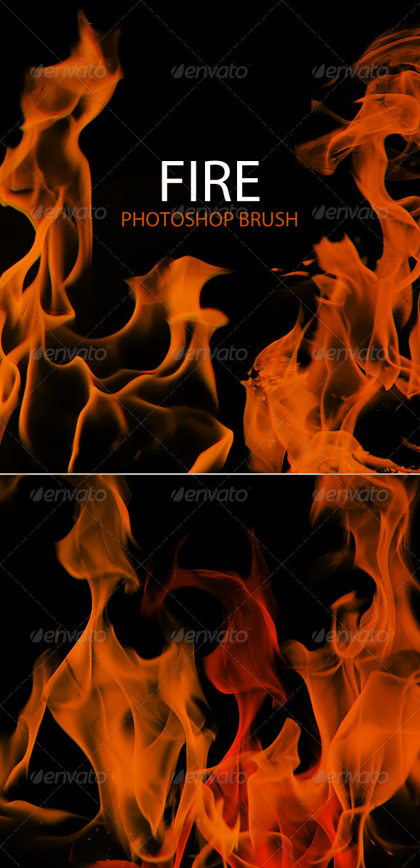 GraphicRiver 10 Fire Flames Photoshop Brush 561502