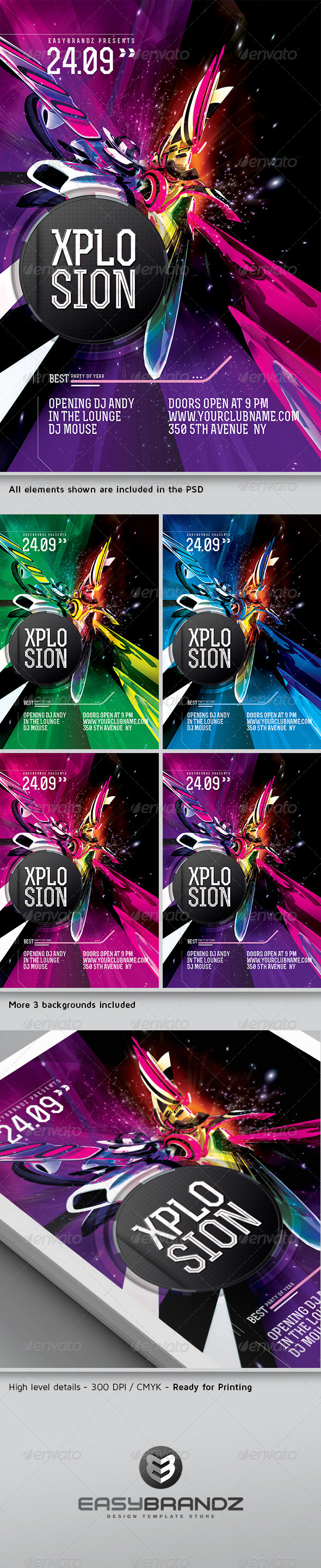 Xplosion Flyer Template - Events Flyers