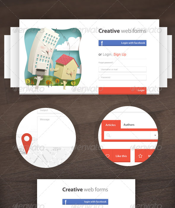 GraphicRiver Creative Web Forms 5469247