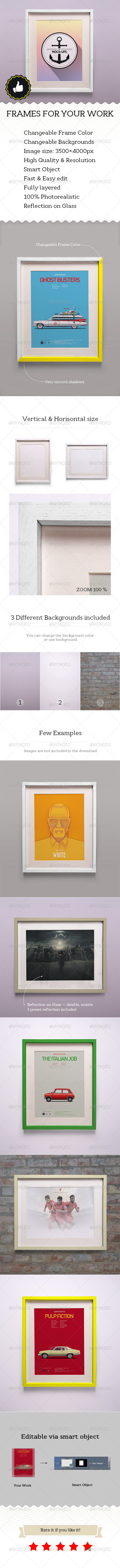 GraphicRiver Frame for Your Works Mockups 5469787