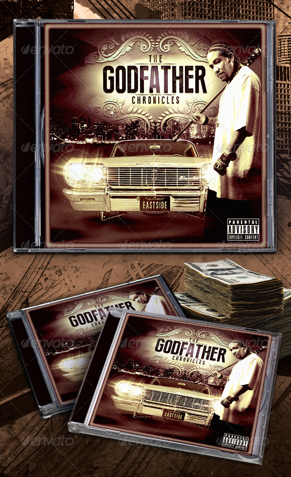 GraphicRiver Godfather Chronicles Mixtape CD Template 5470347