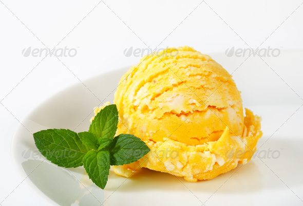 Scoop of fruit sherbet Stock Photo by Vikif PhotoDune