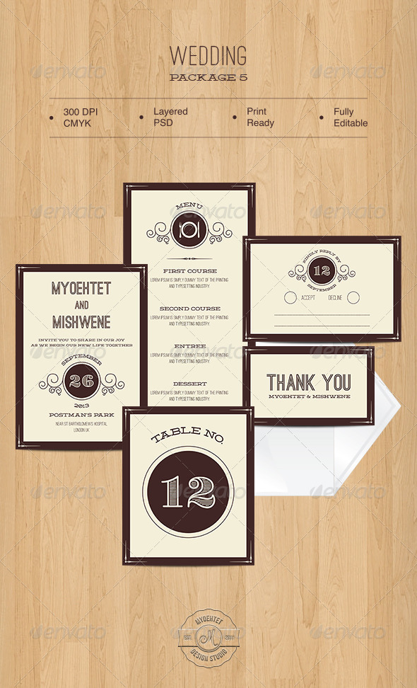 GraphicRiver Wedding Package 5 5451390