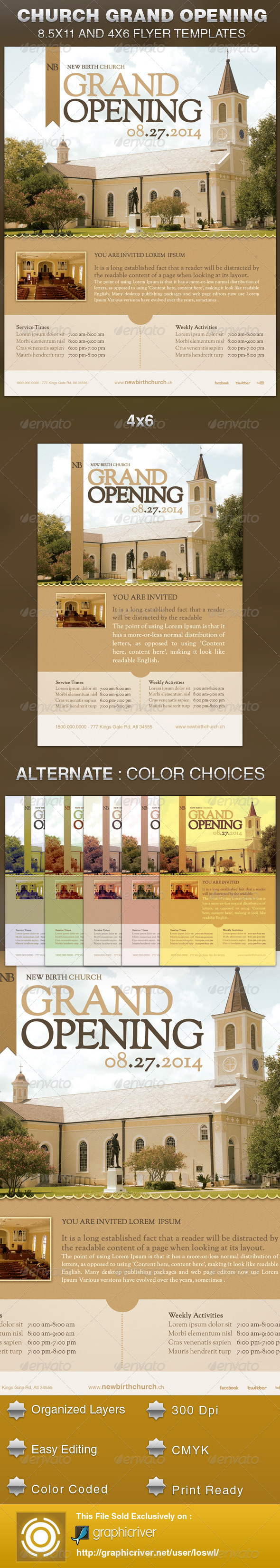 GraphicRiver Church Grand Opening Flyer Template 5471026