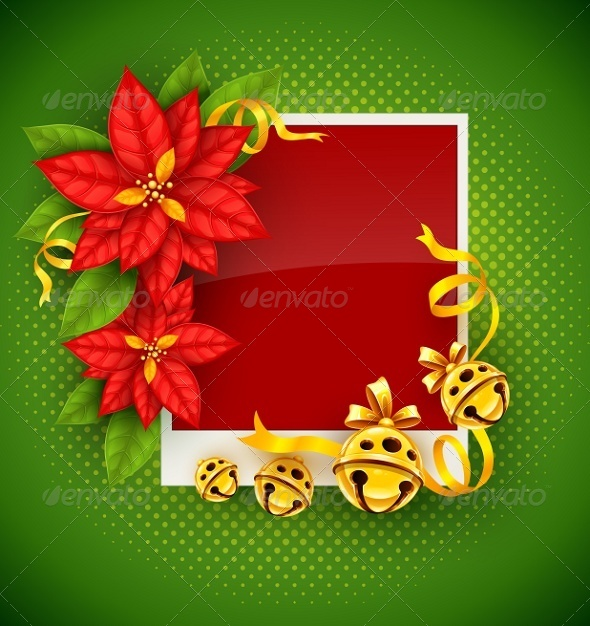 GraphicRiver Christmas Greeting Card with Poinsettia Flowers 5471031