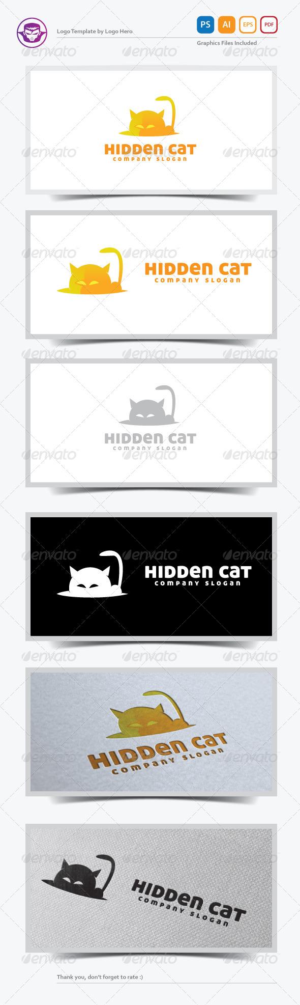 GraphicRiver Hidden Cat Logo Template 5471127
