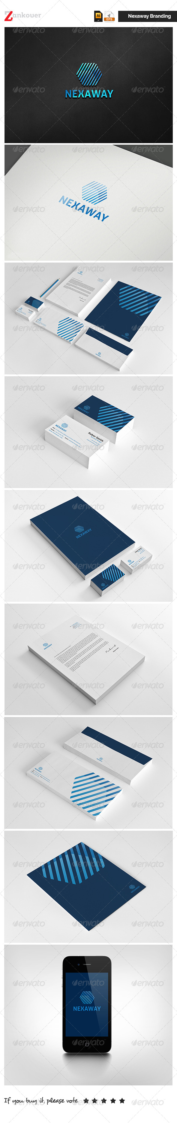 GraphicRiver Corporate Identity Nexaway 5471346