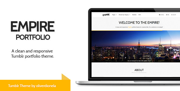 Empire - Responsive Tumblr Portfolio Theme