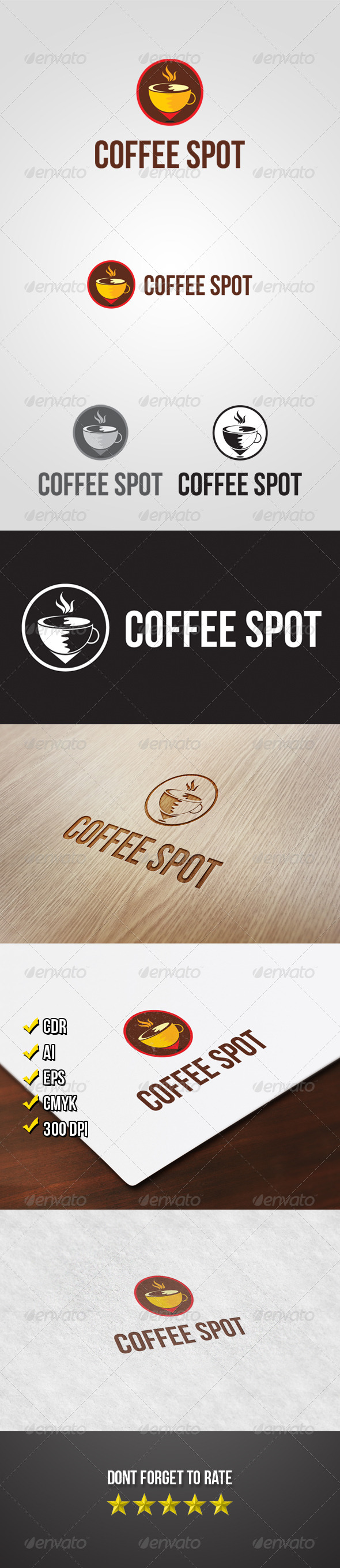 Coffee Spot Logo - Food Logo Templates