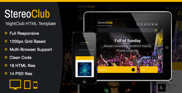 StereoClub / NightClub HTML Template - Music and Bands Entertainment