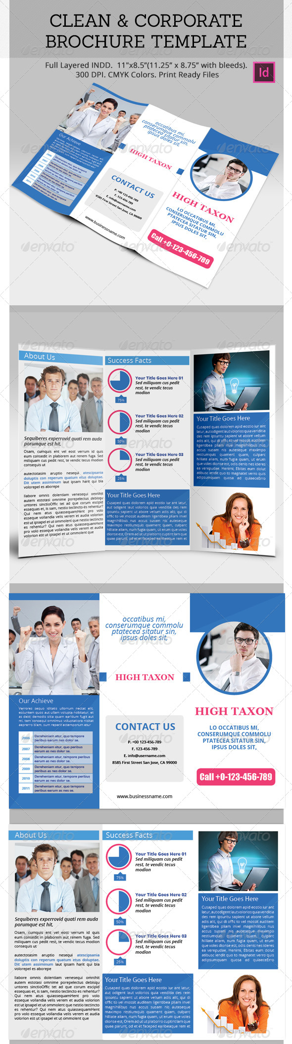Clean and Corporate Brochure Template - Corporate Brochures