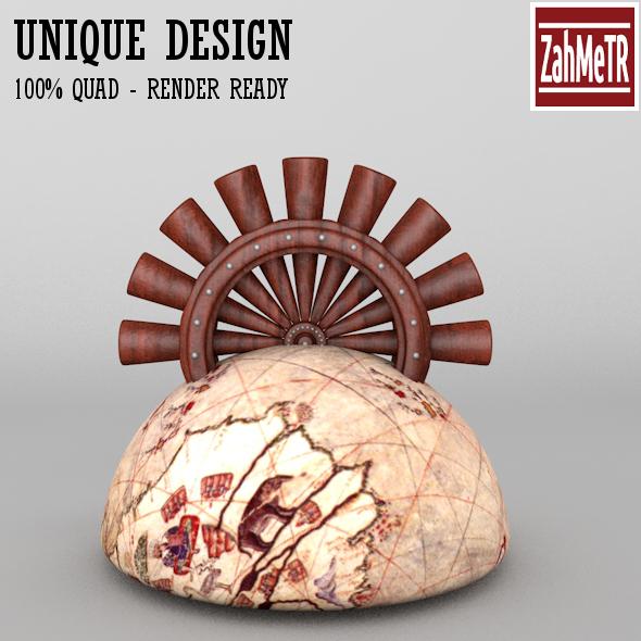 3DOcean Penholder Concept Piri Reis 2 5471673