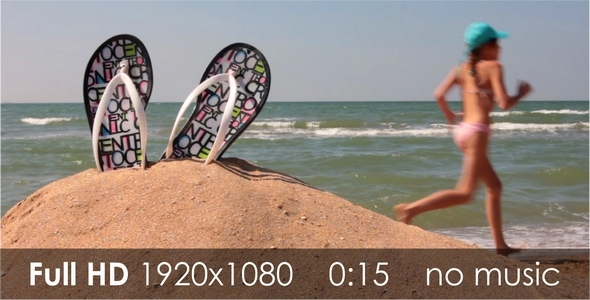 VideoHive Children on the Beach 1 5471679