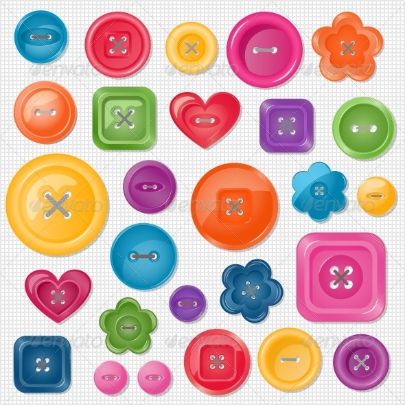 GraphicRiver Set of Colored Vector Buttons 5472098