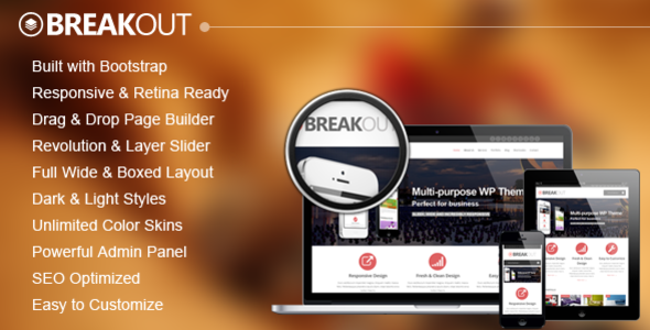 Breakout - Retina Responsive Multipurpose WP Theme - Business Corporate