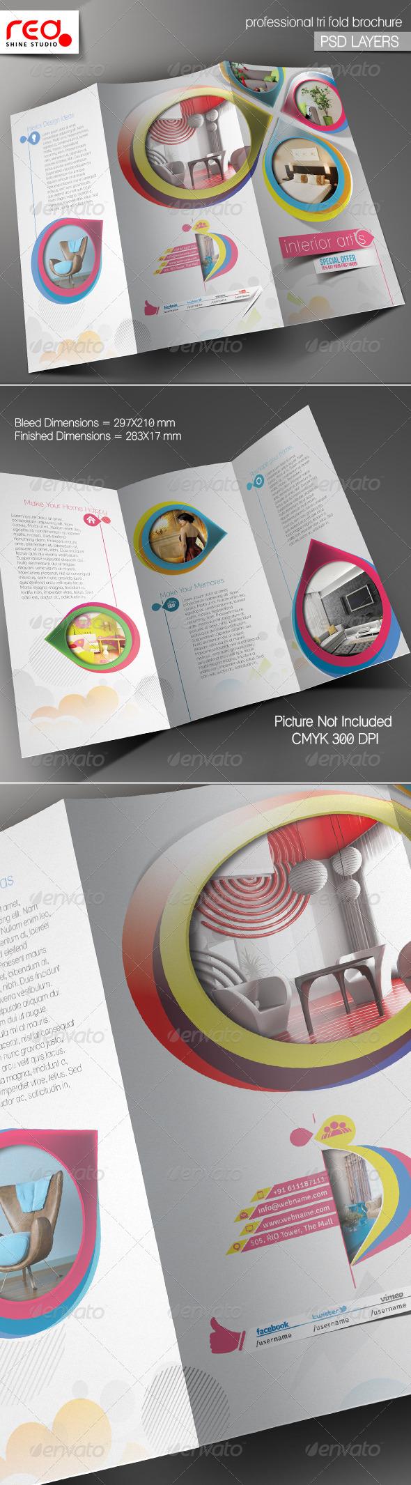 GraphicRiver Architecture & Interior Decorator Trifold Brochure 5447087