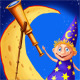Astrologer with a telescope on the moon - GraphicRiver Item for Sale