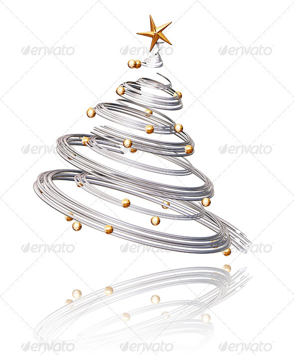 Spiral Christmas Tree Graphic Spiral christmas tree