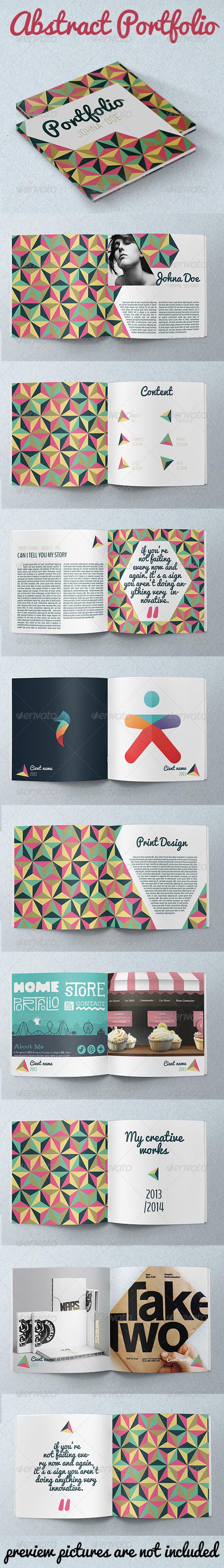 GraphicRiver Abstract Portfolio Brochure 5474058