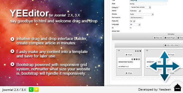 CodeCanyon YEEditor Drag and Drop Editor for Joomla 5474085