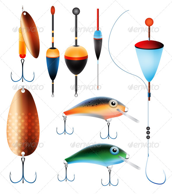 GraphicRiver Fishing Equipment 5474251