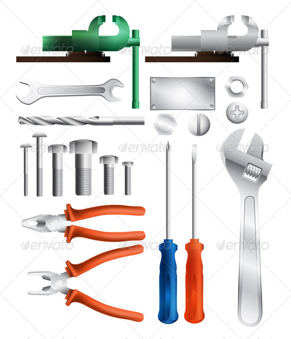 GraphicRiver Set of Tools 5474339