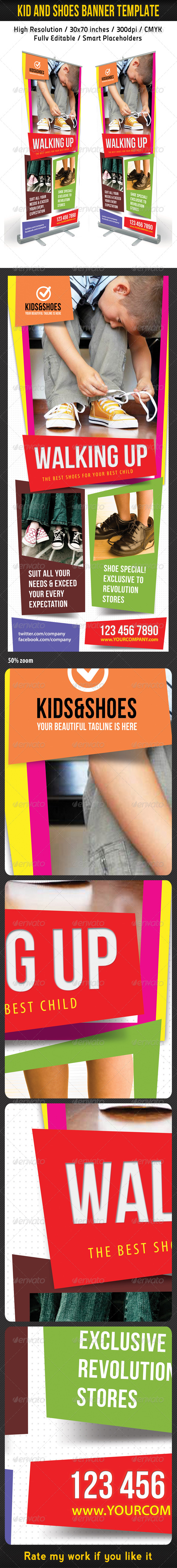 GraphicRiver Kid And Shoes Banner Template 5474585