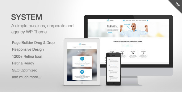 System - Responsive Multi-Purpose Theme - Business Corporate