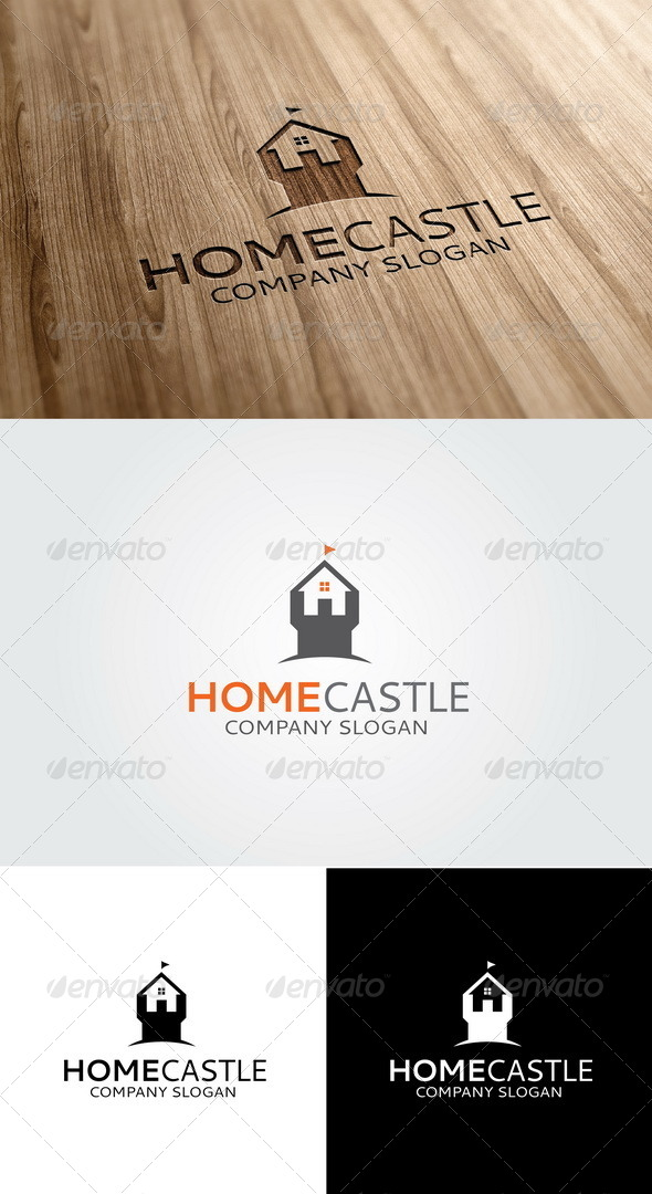 GraphicRiver Home Castle Logo 5474867