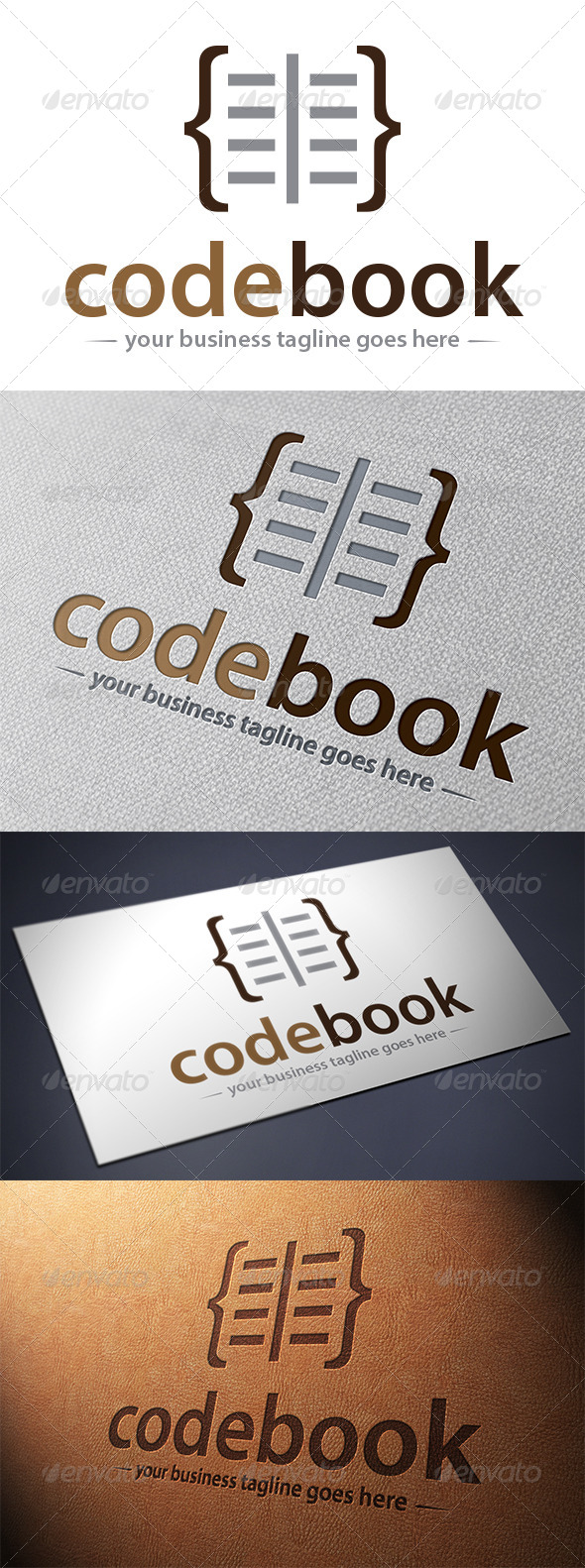 GraphicRiver Code Book Logo Template 5475859