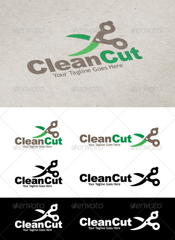 GraphicRiver Clean Cut Logo 5468717