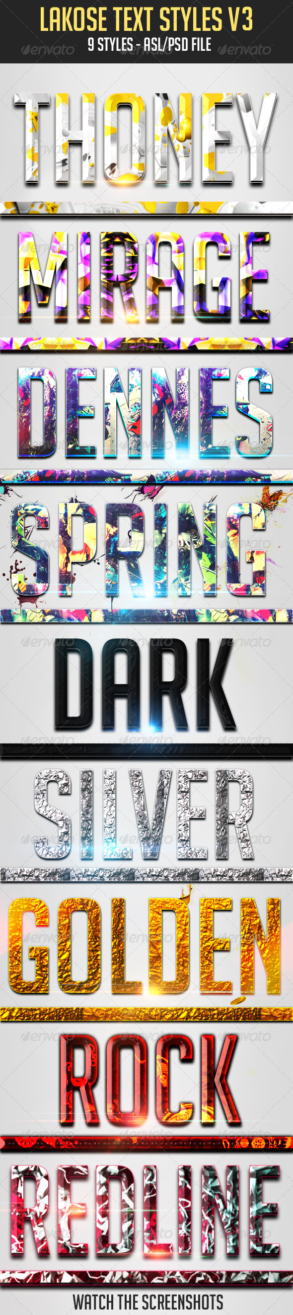 GraphicRiver Lakose Text Styles V3 5463731