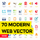 70 Modern Web Vector Elements - GraphicRiver Item for Sale