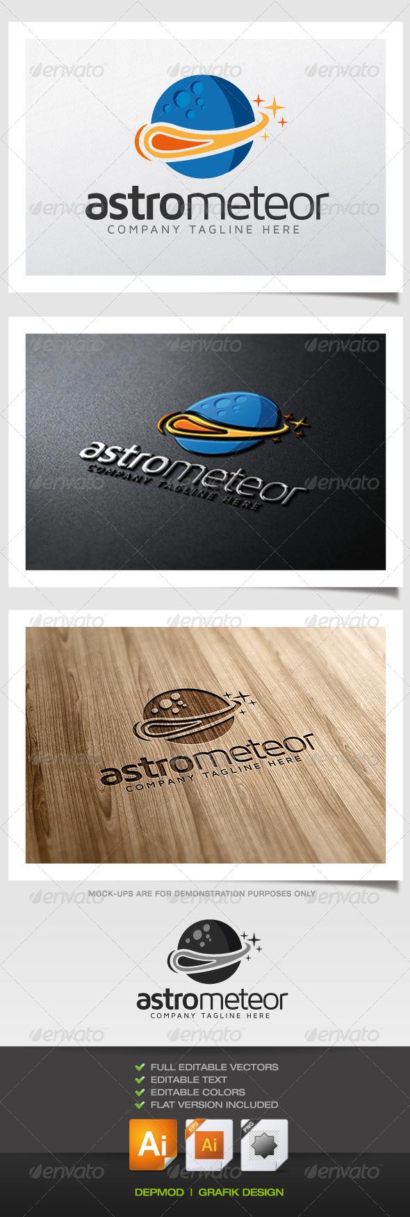 GraphicRiver Astro Meteor Logo 5476194