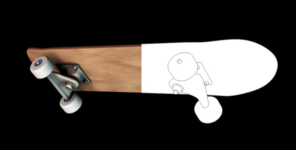 VideoHive Skateboard 5476955