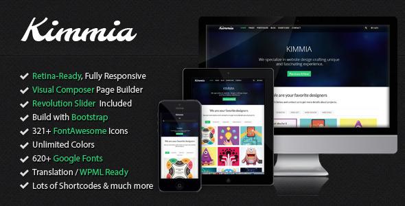 ThemeForest Kimmia Responsive Creative WordPress Theme 5477345