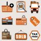 30 Flat eCommerce and Shopping Icon Vector Set - GraphicRiver Item for Sale