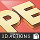 Premium 3D Text Actions - GraphicRiver Item for Sale