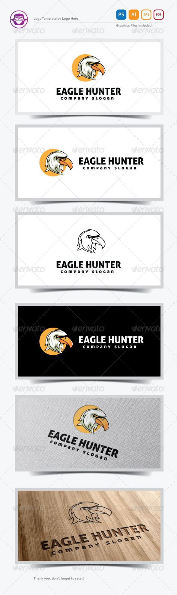 GraphicRiver Eagle Hunter Logo Template 5478157