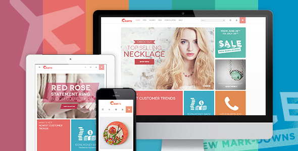 JM Crafts - Responsive  theme for Crafts store
